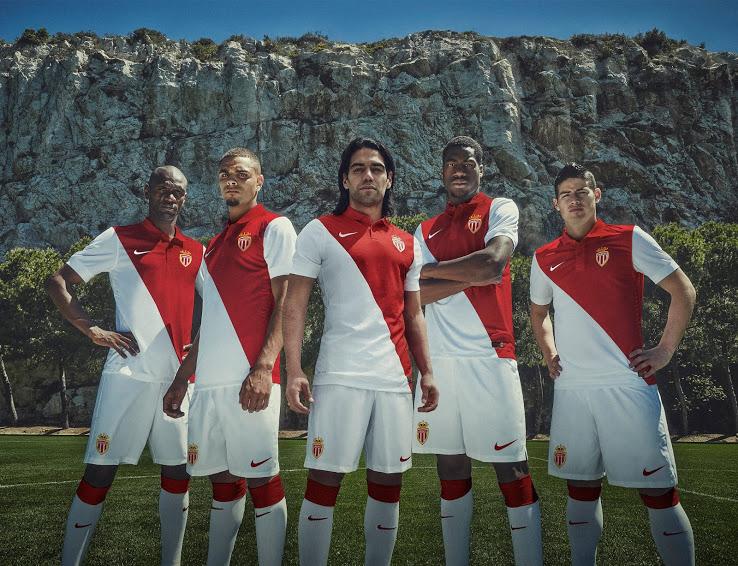 Nike AS Monaco 14-15 Home Kit (2)