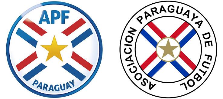 Новый и старый логотип сборной Парагвая
