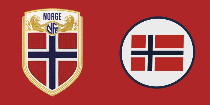 Новая и старая эмблема сборной Норвегии