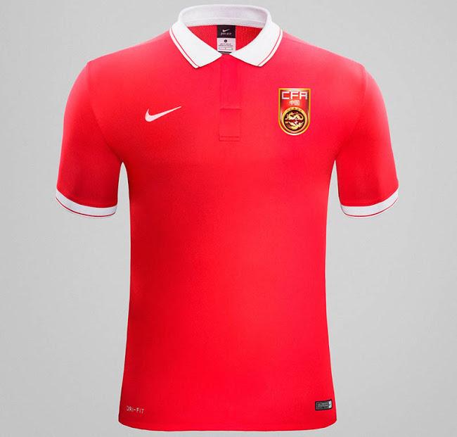 Домашняя форма сборной Китая 2015