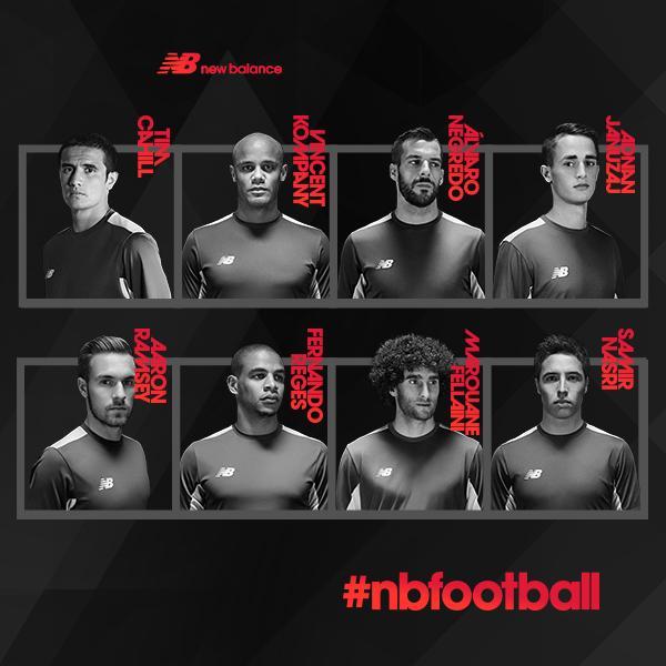С какими футболистами работает New Balance?
