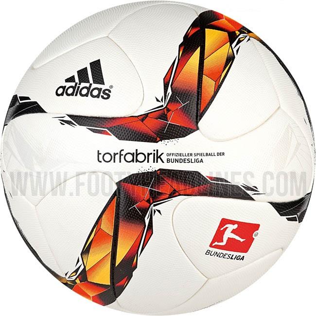 Новый мяч Бундеслиги Adidas Torfabrik 15/16