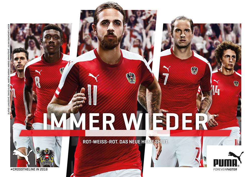 Домашняя форма сборной Австрии Евро-2016