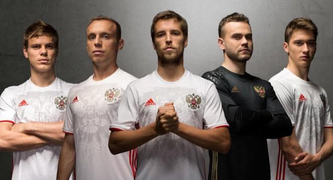 Гостевая форма сборной России Евро-2016