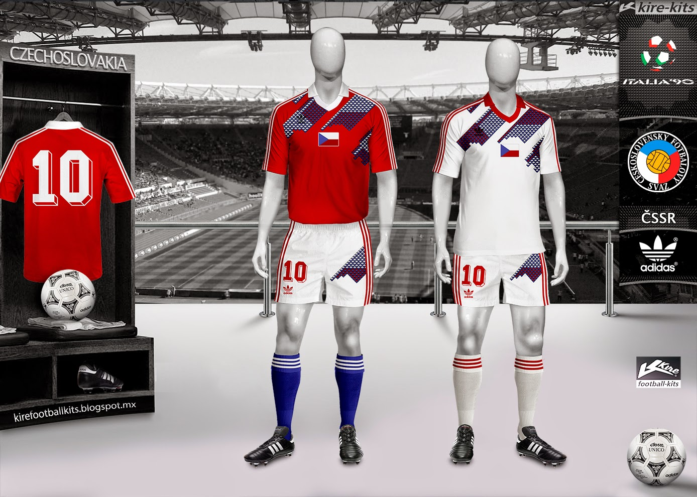 Форма сборной Чехословакии 1990