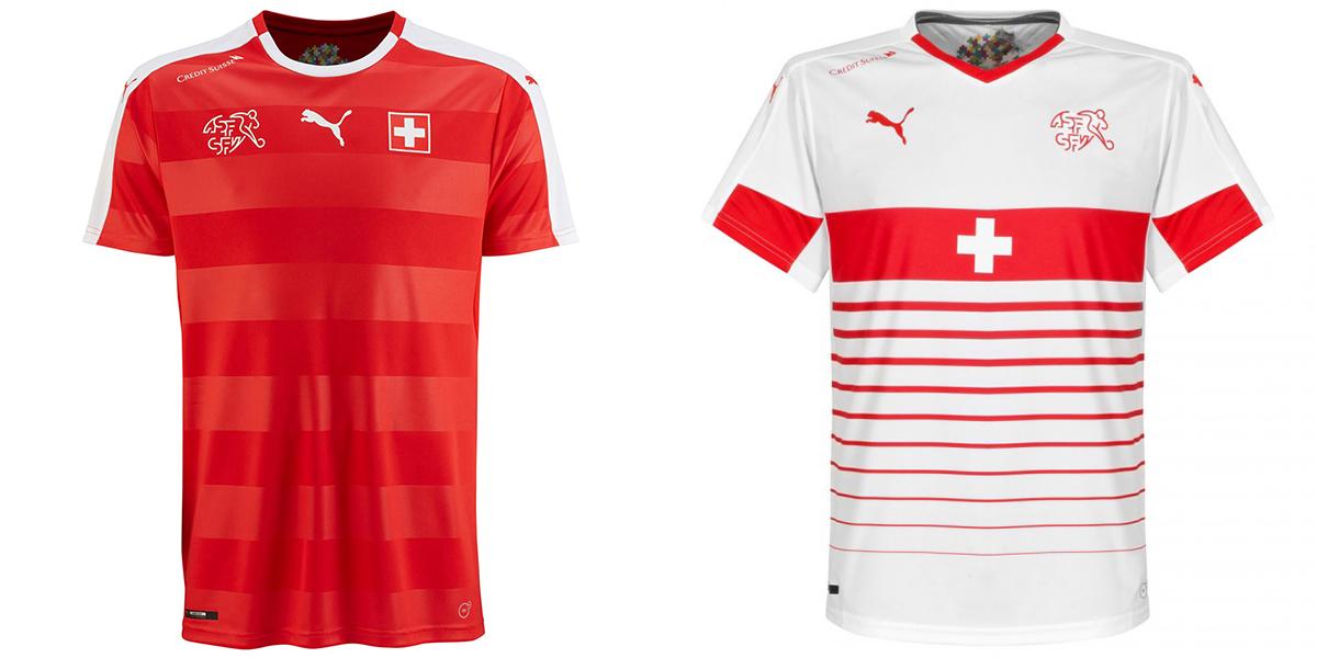 Новая форма сборной Швейцарии Евро-2016