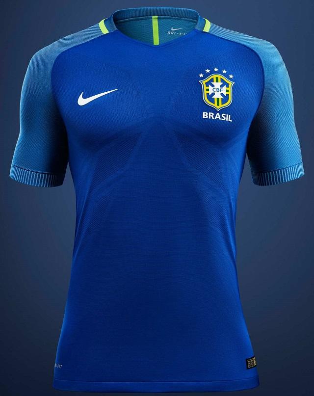 Гостевая форма сборной Бразилии 2016