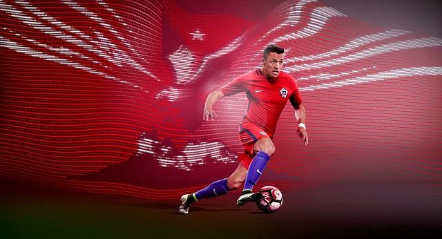 Домашняя форма сборной Чили 2016