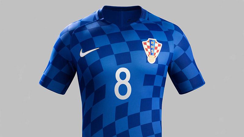 Гостевая форма сборной Хорватии 2016