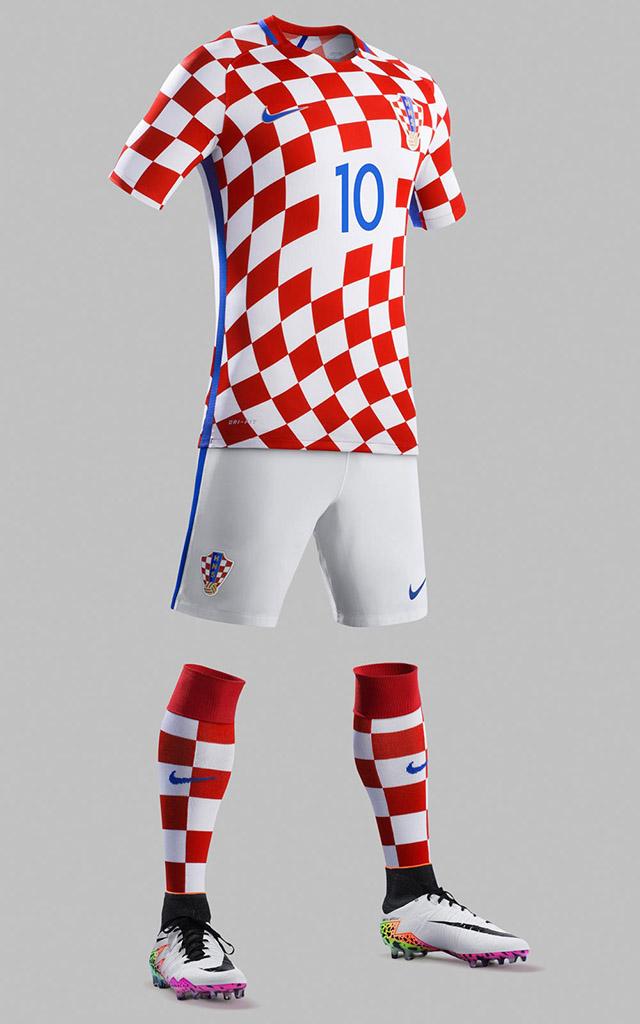 Домашняя форма сборной Хорватии 2016