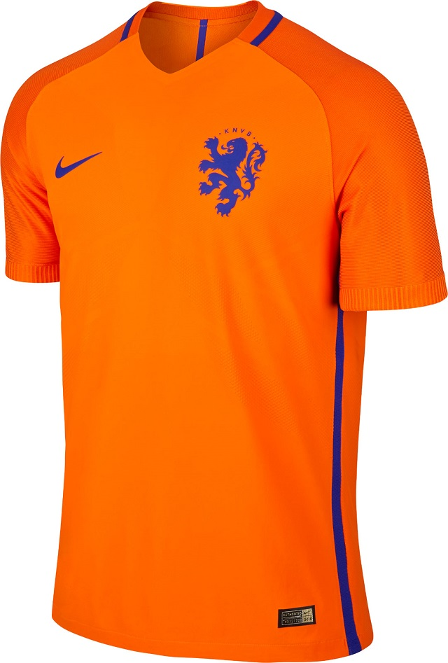 Домашняя форма сборной Голландии 2016
