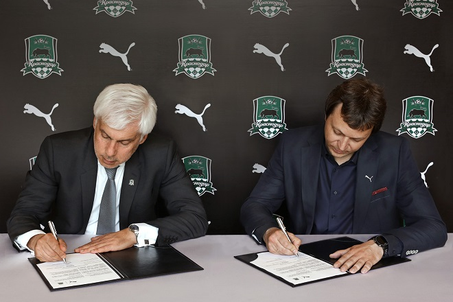 «Краснодар» подписал контракт с Puma