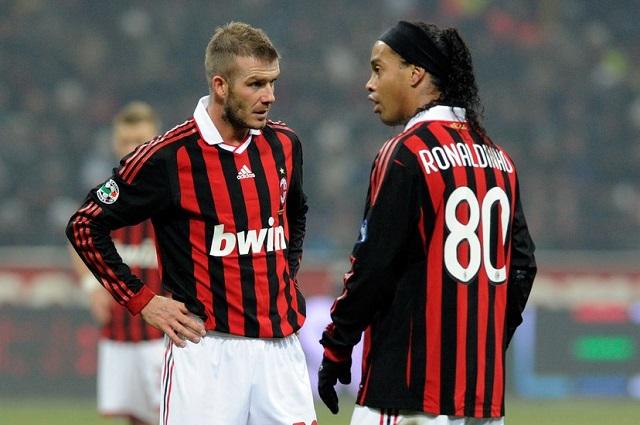 Бекхэм и Роналдиньо в сезоне 2009/10