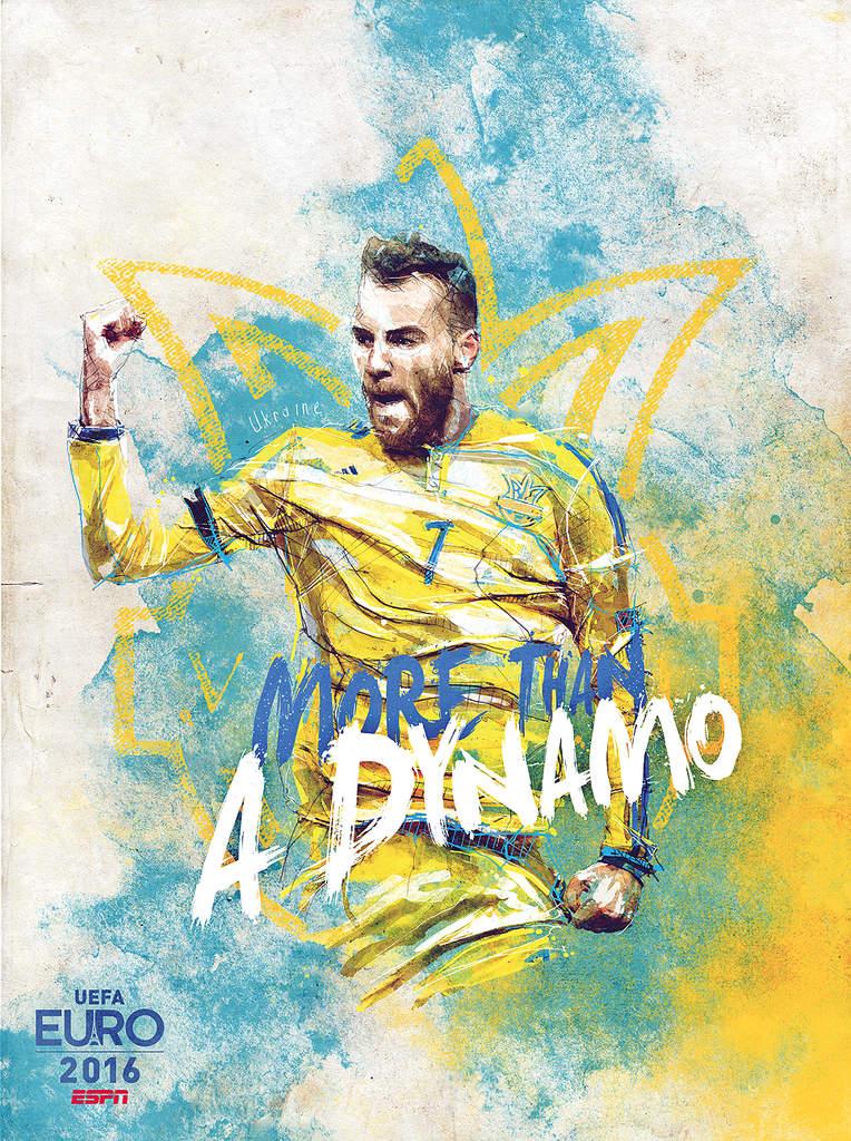 Плакат сборной Украины