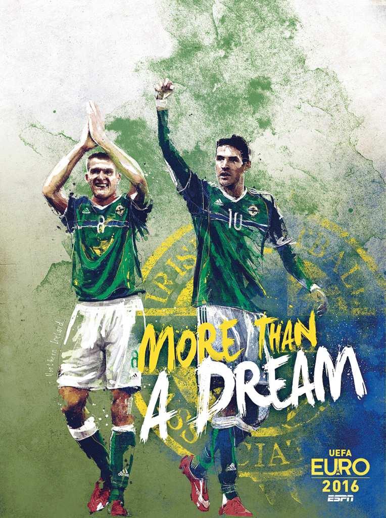 Плакат сборной Северной Ирландии