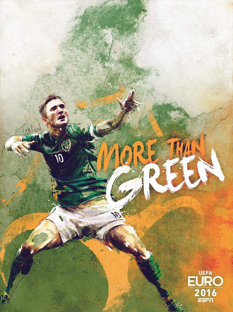 Плакат сборной Ирландии