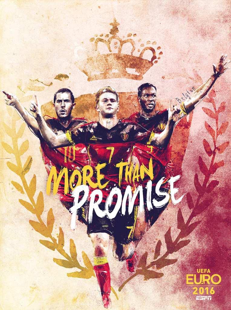Плакат сборной Бельгии