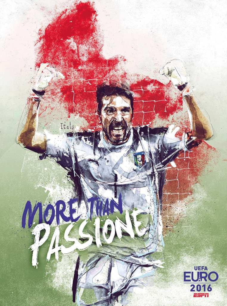 Плакат сборной Италии