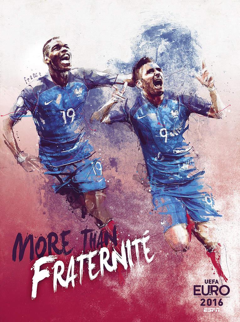 Плакат сборной Франции