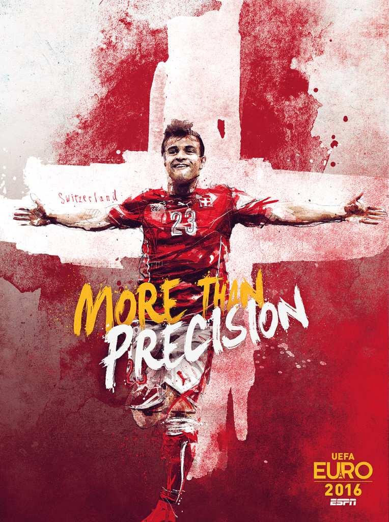 Плакат сборной Швейцарии