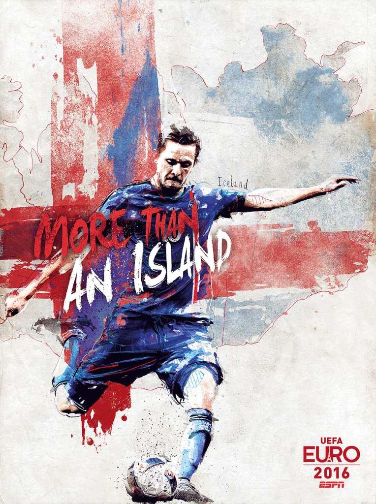 Плакат сборной Исландии