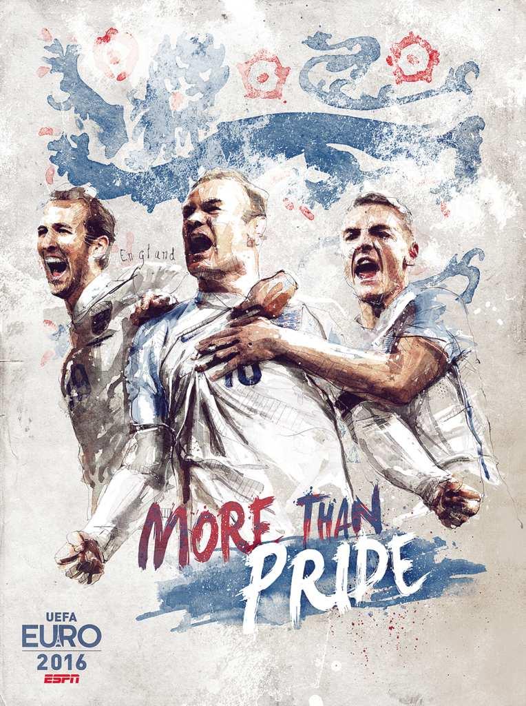 Плакат сборной Англии