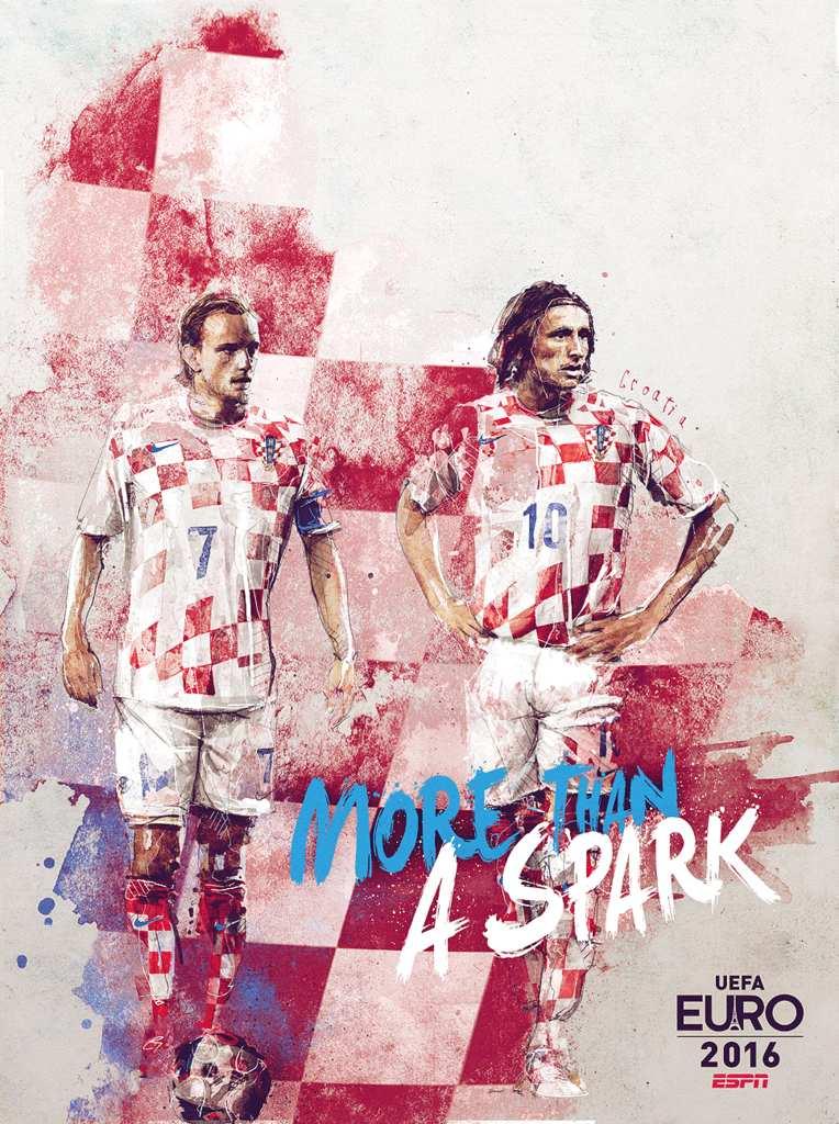 Плакат сборной Хорватии