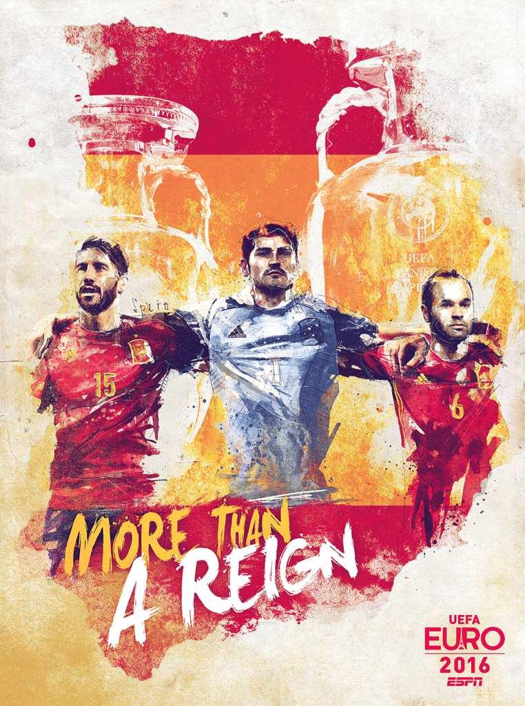 Плакат сборной Испании