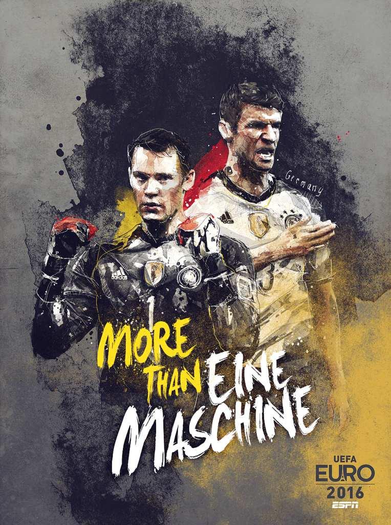 Плакат сборной Германии