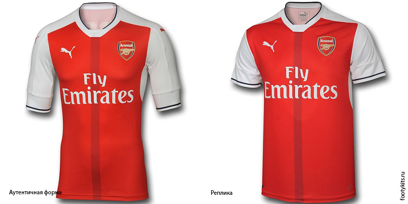 Аутентичная форма Арсенала и Реплика