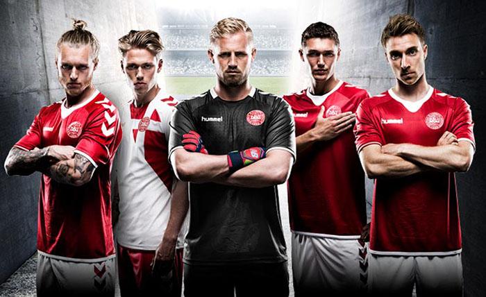 Новая форма сборной Дании 16-17