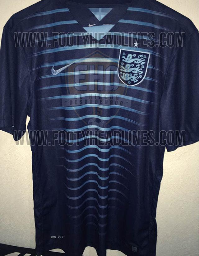 Один из невыпущенных вариантов формы сборной Англии
