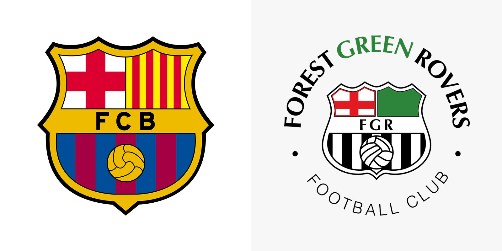 Barcelona - Forest Green Rovers (старая эмблема)