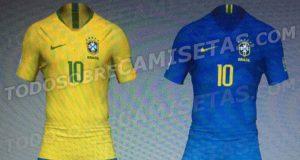 Новая форма сборной Бразилии 2018