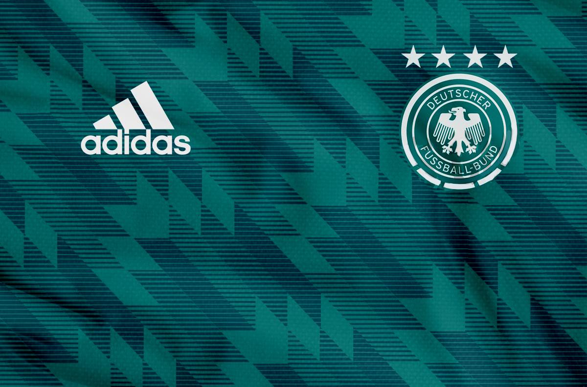 Гостевая форма сборной Германии 2018