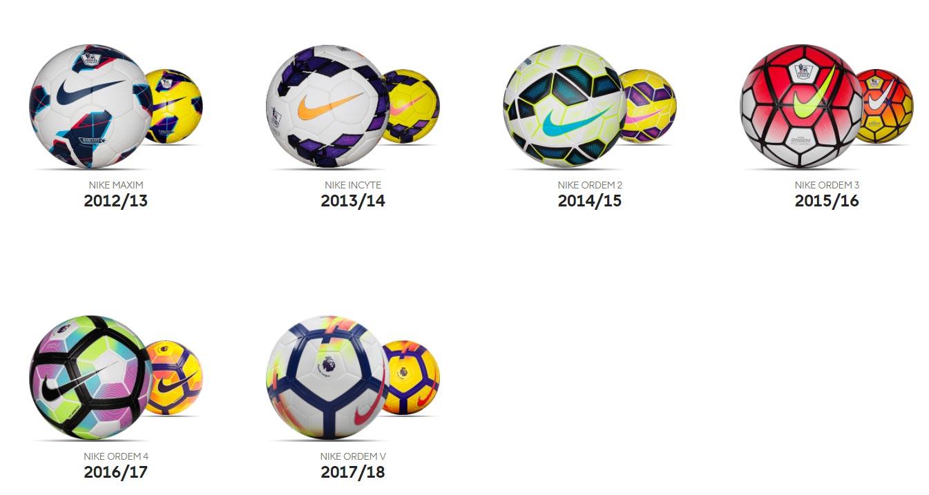 Мячи АПЛ за последние несколько сезонов