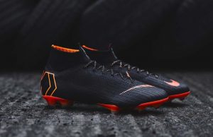 Черные бутсы Nike Mercurial Superfly VI Elite 2018