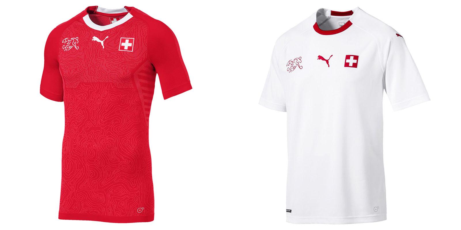 Форма сборной Швейцарии на ЧМ2018