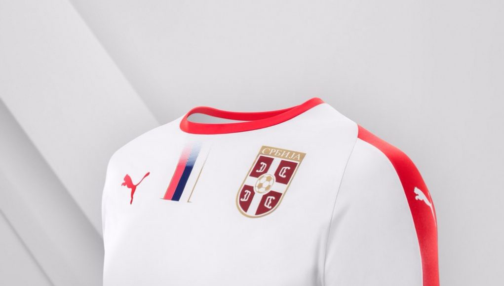 Гостевая форма сборной Сербии 2018