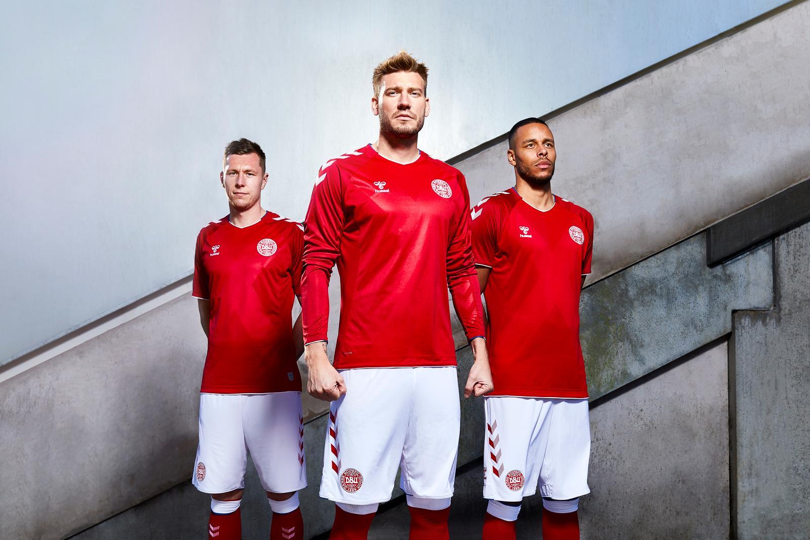 Новая форма сборной Дании 2018