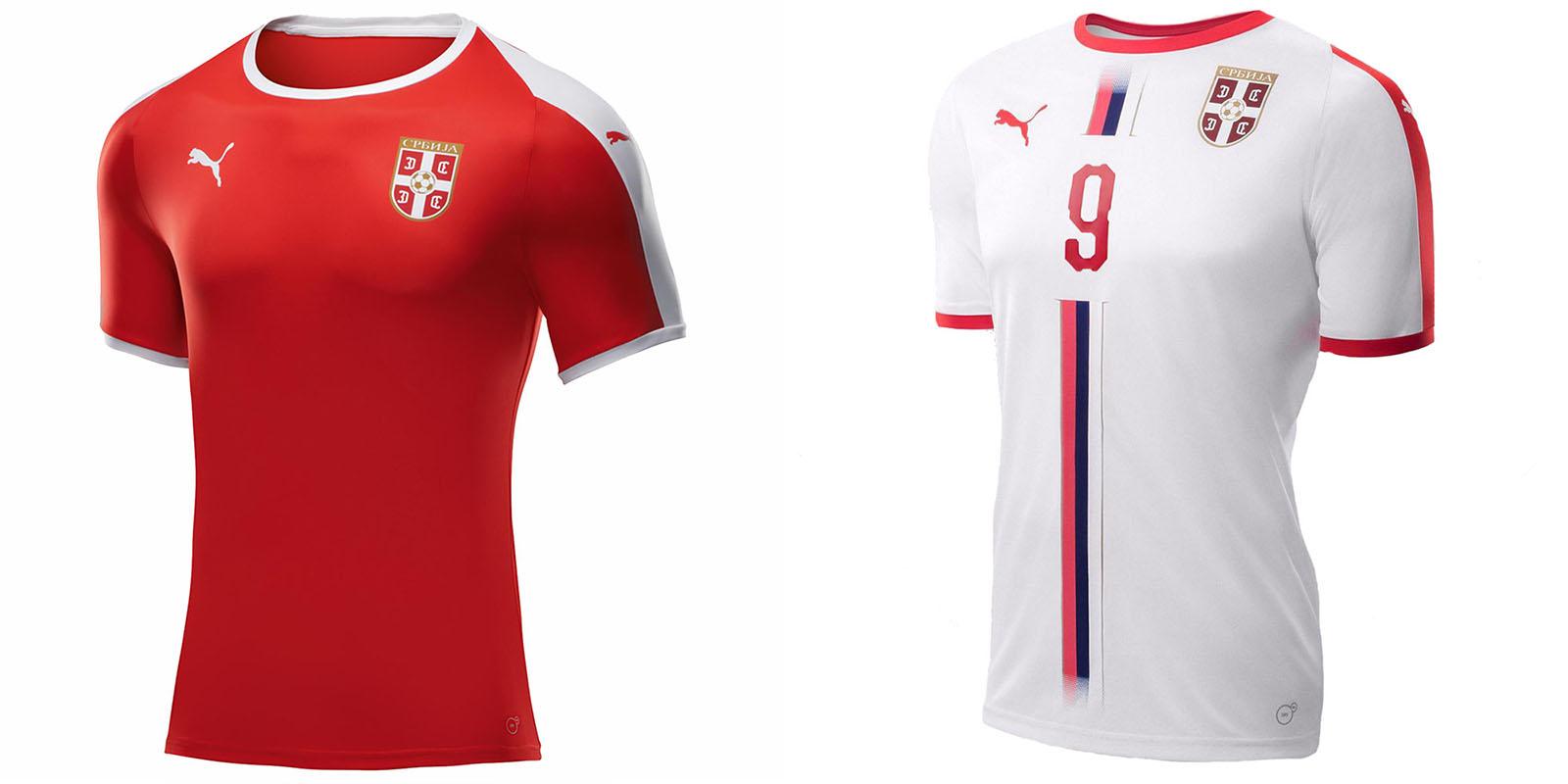 Новая форма сборной Сербии 2018
